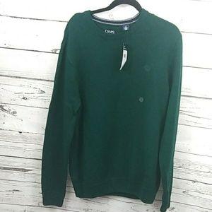 CHAPS BNWT C crest Hunter green sweater sz L